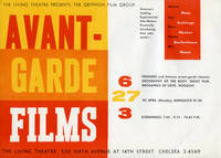 Avant-Garde Films presented by The Gryphon Film Group at the Living Theatre in New York, April 27th, 1959 by  and others (directors)  Willard Maas - 1959 - from Royal Books, Inc. (SKU: 131285)