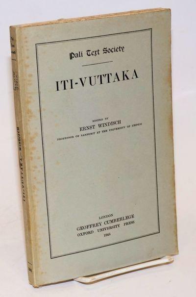 London: Pali Text Society; Oxford University Press, 1948. viii, 151, p., plain printed paper over bo...