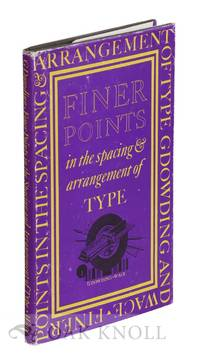 image of FINER POINTS IN THE SPACING & ARRANGEMENT OF TYPE