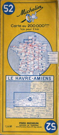 Le Havre - Amiens by Michelin - no. 52, 1:200,000 - 1962 - from Acanthophyllum Books and Biblio.com