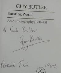 image of Bursting World: An Autobiography: 1936-45