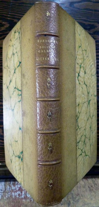 Paris: Edouard Rouveyre, 1880. First edition. leather_bound. Three quarter taupe morocco and marbled...
