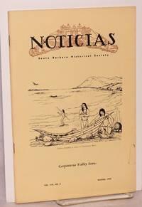 Noticias; quarterly bulletin of the Santa Barbara Historical Society, vol. viii no. 4, Winter 1962