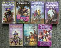 image of 7 ASSORTED BOOKS BY ESTHER FRIESNER.  1. HERE BE DEMONS.  2. DEMON BLUES.  3. GNOME MAN'S LAND.  4. HARPY HIGH.  5. SPELLS OF MORTAL WEAVING.  6. THE WITCHWOOD CRADLE.  7. THE WATER KING'S LAUGHTER.