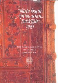 34th Antiquarian Book Fair. 22-23 June 1993.