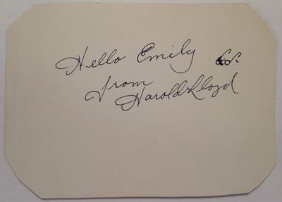 1950. unbound. 1 page, 4 x 5.5 inches, no place, no date, circa 1950. Signed