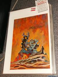 "*Signed* 9""x6"" Color Print Post Card of ""Surface Patrol"" by Kelly Freas from ""Testament XXI"" by Guy Snyder"