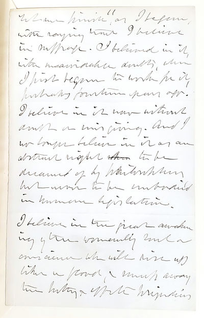 Julia Ward Howe Autograph Manuscript...