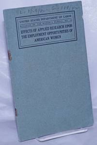 image of Effects of applied research upon the employment opportunities of American women