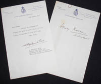 image of Typed letter, signed by Captain G. Frederick Pine, of the Royal Navy, enclosing autograph of Admiral Sir Henry R. Moore