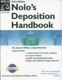 Nolo's Deposition Handbook by  Albert J  Paul; Moore - Paperback - 2005 - from Black Sheep Books and Biblio.com