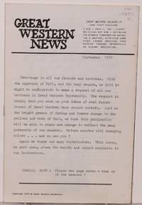 image of Great Western News September 1978