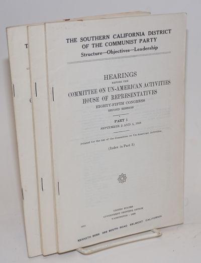 Washington: GPO, 1959. Three volumes , wraps slightly worn.