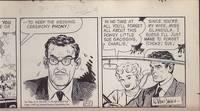 "Original Cartoon Art Featuring Charlie Dobbs, From the Cartoon Strip ""Abbie An'..."
