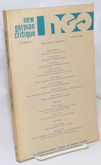 image of New German Critique: An Interdisciplinary Journal of German Studies; Number 22, Winter 1981: Special Issue on Modernism