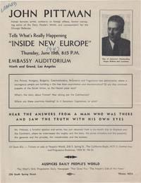 John Pittman; . . . Tells What's Really Happening Inside New Europe . .