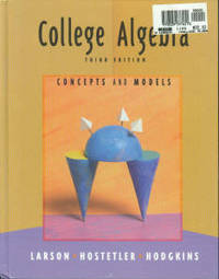 image of College Algebra: Concepts And Models