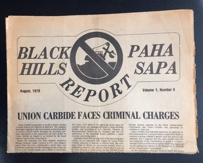 Rapid City, SD: Black Hills Alliance, 1979. , tabloid format newspaper, paper evenly toned, edges wo...