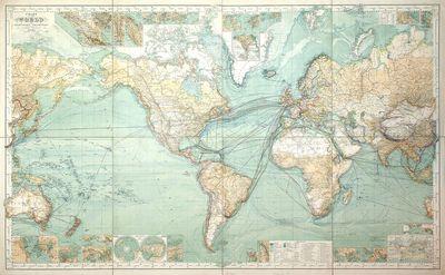 Chart Of The World On Mercator's...