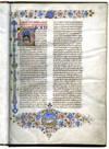 LIBER SUPER ETHICORUM ARISTOTELIS (Commentary on the Ethics of Aristotle);Illuminated manuscript on vellum By Thomas Aquinas