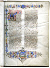 image of LIBER SUPER ETHICORUM ARISTOTELIS (Commentary on the Ethics of Aristotle);Illuminated manuscript on vellum By Thomas Aquinas