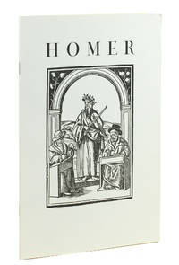 Homer. Printed editions of the Illiad and Odyssey in Greek and in translation and landmarks in Homeric scholarship, selected from the Collection of M. C. Lang.