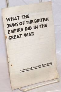 What the Jews of the British Empire did in the Great War
