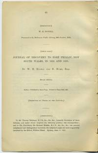 Journal of Discovery to Port Phillip, New South Wales, in 1824 and 1825 in the Royal Geographical Society of Australasia by  W.H. and H. Hume; W. Bland (ed.) Hovell - Second edition - 1894 - from Antipodean Books, Maps & Prints (SKU: 25703)