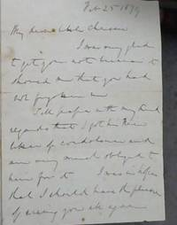 image of Letter by Sir Theophilus Shepstone