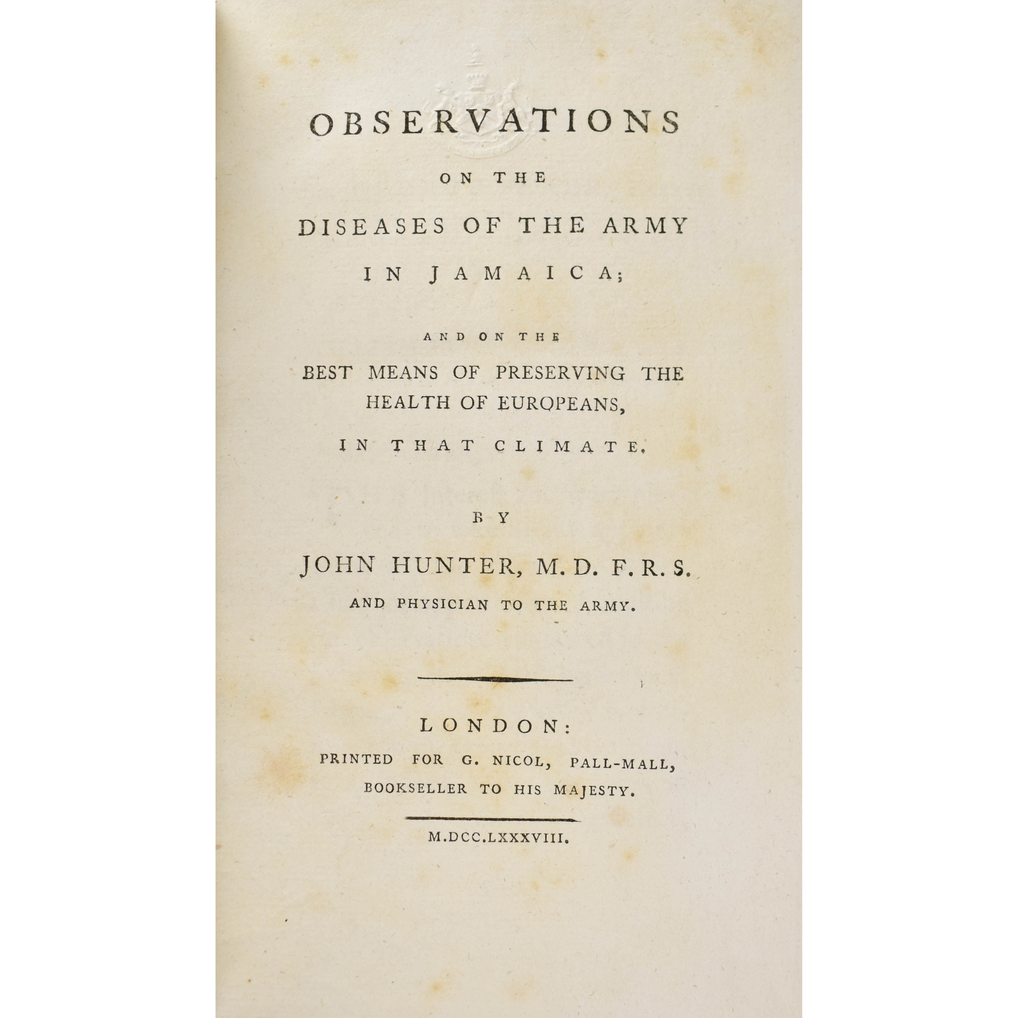 Observations on the Diseases of the Army in Jamaica (photo 1)