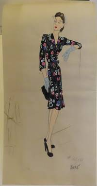 Original fashion design in gouache