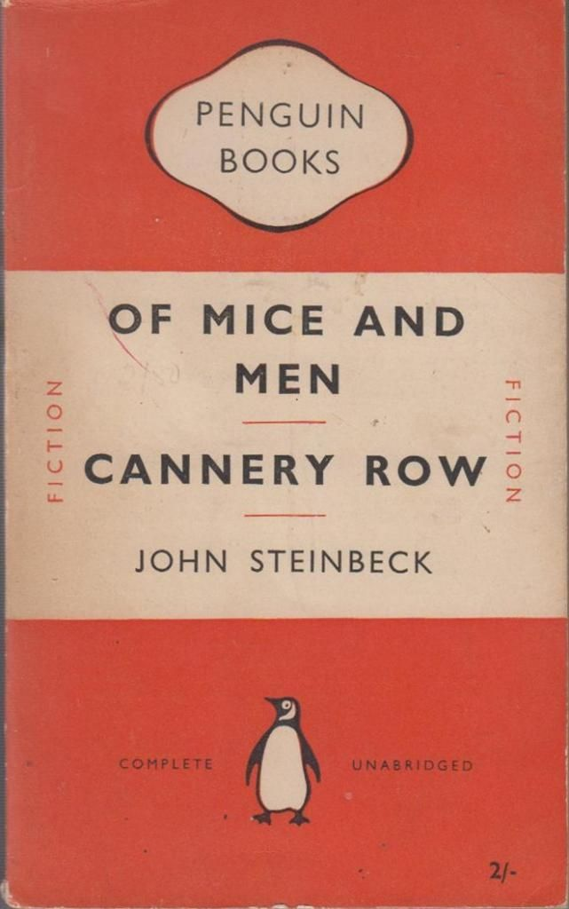 """of mice and men and cannery row analysis Cannery row, like of mice and men is a good example of slice of life literature, defined as """"literature [that] is realistic writing that offers a realistic portrayal of life"""" (flanagan 1) even more so than the characters found in the grapes of wrath and of mice and men , the characters found in cannery row strike readers with a startling."""