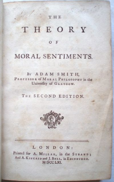 essay on the theory of moral sentiments Adam smith's the theory of moral sentiments (tms) 1 was published in 1759, and although it was not the instant success of the wealth of nations (wn), it was well.