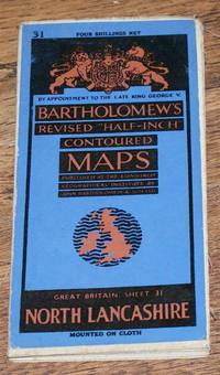 "North Lancashire and Isle of Man - Bartholomew's Revised ""Half-Inch"" Contoured Maps, Great Britain Sheet 31"