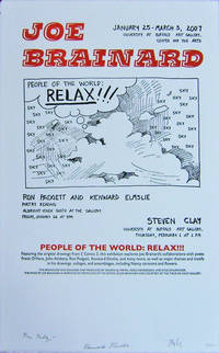 Art & Poetry Exhibition Poster (People Of The World: Relax!) Signed by Padgett, Elmslie and Clay