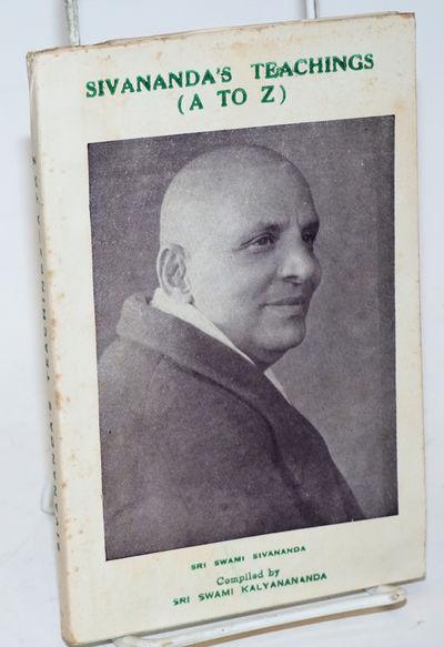 Rikhikesh, India: Yoga-Vedanta Forest University, 1955. Paperback. xii, 168 p., 7x4.5 inch pictorial...