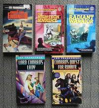 image of ADVENTURES OF CONRAD STARGARD.  VOLUMES 1-3 and 5 & 6.  1. THE CROSS-TIME ENGINEER.  2. THE HIGH-TECH KNIGHT.  3. THE RADIANT WARRIOR.  5. LORD CONRAD'S LADY.  6. CONRAD'S QUEST FOR RUBBER.  5 BOOKS IN TOTAL.