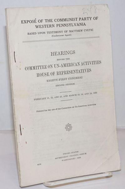 Washington DC: GPO, 1950. Paperback. ii, 1195-1352p., wraps a bit worn, pen number on front wrap, st...