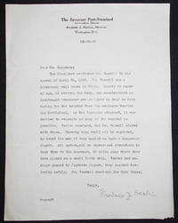 image of Type letter, signed by journalist Frederic J. Haskin on Syracuse Post-Standard letterhead