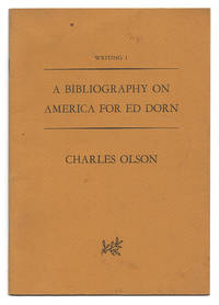 A Bibliography On America for Ed Dorn