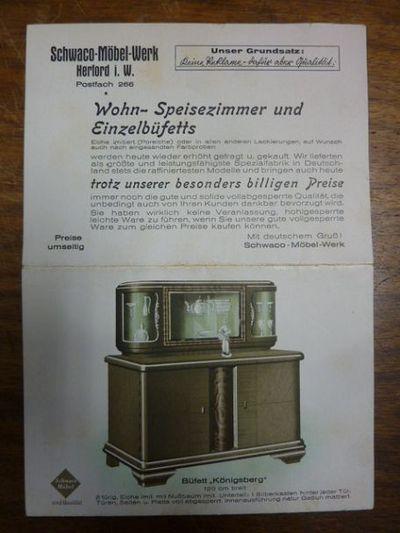 Werbeprospekt Schwaco Mobel Werk Wohn Speisezimmer Und