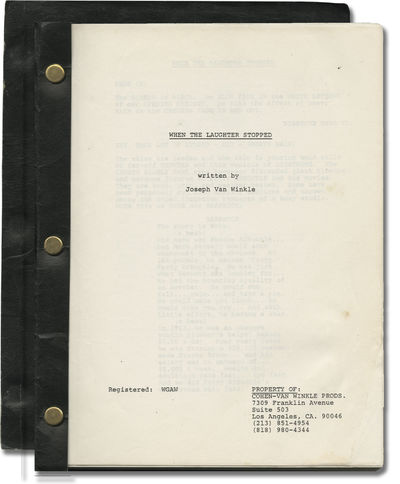 N.p.: N.p.. Draft script for an unproduced film. A biopic about the silent film star Roscoe