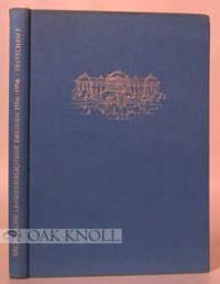 Leipzig: Otto Harrassowitz, 1956. cloth. Sachsische Landesbibliothek. square 8vo. cloth. vi, 298, (2...