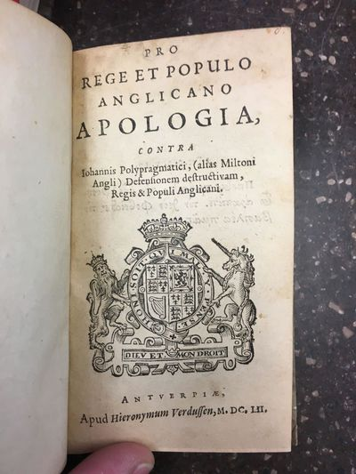 Antuerpiae : Apud Hieronymum Verdussen, 1652. First Edition. Hardcover. 12mo, , , 175 pages; VG; bou...