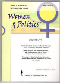 Women & Politics Vol 24, Number 4