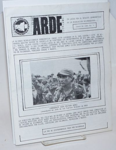 n.p.: ARDE, 1985. , 8.5x11 inches, very good. Newsletetr issued by US-based supporters of the southe...