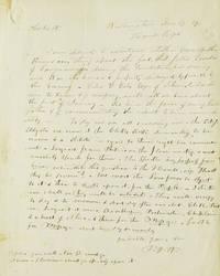 """Autograph letter signed """"P. J. W"""""""
