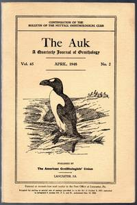 image of April 1948 Issue of the Auk a Quarterly Journal of Ornithology Illustrated