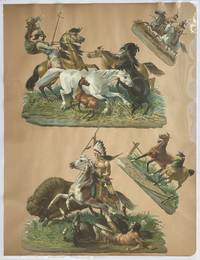[Four Embossed Chromolithographed Wild West Die-cuts]