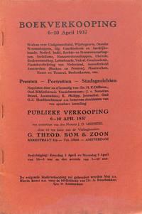 Sale 6-10 april 1937: cat. Werken over Godsgeleerdheid, Wijsbegeerte,  Occulte Wetenschappen etc. Prenten, Portretten, Stadsgezichten, nagelaten  door en afkomstig van: Dr. H.C. Diperzee, J. v. Someren Brand, K. Philipp.